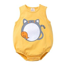 eacfdb60c3 2019 summer unisex baby infant animal jumpsuits baby girl rompers boys  sleeveless one piece bodysuits newborn onesies cute toddler clothes