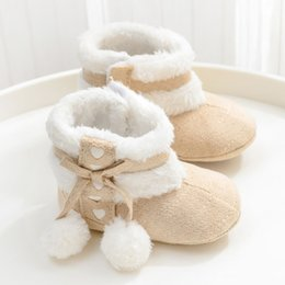 pink velvet bedding UK - 2 Three 4-56 Six 7 Seven 8 Eight 9 Ninety 2-month Women's Baby Shoes 0-1 a Year of Age Male Baby autumn And Winter plus Velvet 1