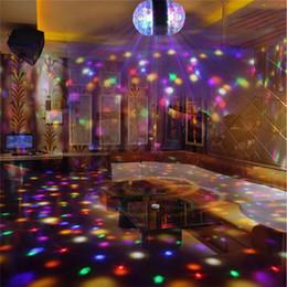 $enCountryForm.capitalKeyWord Australia - Dual Head Magic LED Stage light Disco Lamp Rotating Bulb Light RGB Colorful Party MINI Crystal Ball Lights E27
