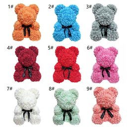 0fe8f616d34 Teddy Bear Romantic Australia - Valentines Romantic Gift box PE Rose Bear  Artificial Rose Decorations Cute