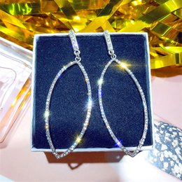 $enCountryForm.capitalKeyWord Australia - Exaggerated Jewelry Big Hollow Geometry Leaf Shaped Rhinestone Earrings For Ladies Gift Fashion 2019 Silver Color Earring Z3e741