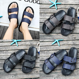 Brown Beach Sandals Australia - new designer luxury sandals Brand Slippers Blue black Brown Shoes Man Casual Shoes Slippers Outdoor Beach Slippers EVA light Sandals