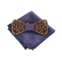 $enCountryForm.capitalKeyWord Canada - Fashion Western Wood Gentleman Pocket Square Bow Ties Handmade Butterfly Wedding Party Bow Ties Butterfly Wooden Unique Tie