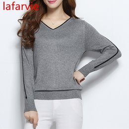high low belt Australia - LAFARVIE LOWEST PRICE Women Fashion Outwear Pullover Knitted Cashmere Sweater High Quality New Design Pure Colors Free ShippingMX190924