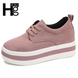 $enCountryForm.capitalKeyWord Australia - Hee Grand Women New Winter Faux Suede Shoes Casual Lace-up Sneakers Female Platform Shoes Ladies Flats Size 35-40 Xwd6984 MX190816