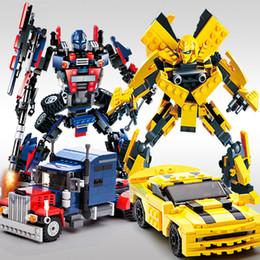 $enCountryForm.capitalKeyWord NZ - 2 In 1 Transformation Series Robot Vehicle Sport Car Diy Legoings Building Blocks Action Figures Toys Kids Best Gifts C19041501