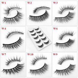 False Eyelashes Natural Handmade NZ - 5 Pairs False Eyelashes Natural Soft Eye Lashes Makeup Handmade Thick Fake False Eyelashes Make Up Beauty Tools 29 Styles