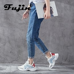 Female Sneaker Brands NZ - Brand 2019 Breathable Mesh Women Casual Shoes Vulcanize Female Fashion Sneakers Lace Up High Leisure Footwears 11.11