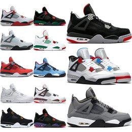 Wholesale 4 Cool Grey s OG Bred For Men Basketball Shoes White Cement Fire Red Tattoo Trainer Athletic Sport Sneakers Size