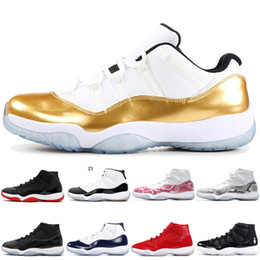Discount white christmas rose - 2019 New 11 Basketball Shoes 11s men women Gym Red high Blue Rose Gold Navy Gum Concord 23 45 Space Jam Sneakers
