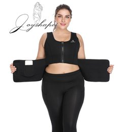 Wholesale Joyshaper Tummy Control Corset Adjustable Zip Butt Shaper Waist Trainer Adjustable Shapewear Body Shapers Neoprene Sweat Vest