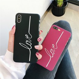 Vertical Iphone NZ - Mobile phone case simple vertical bar English letters for iphone 7 8 mobile phone shell frosted half pack