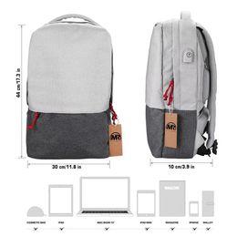 Laptop Chain NZ - MARKROYAL External USB Charge Laptop Backpack Waterproof Rucksack Notebook Computer Bag 15.7 Inch For Women Men School Bag