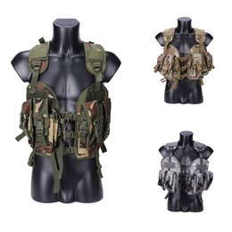paintball army UK - 97 Seal Tactical Vest Outdoor Airsoft Paintball Games Body Armor Men Hunting Army Combat Protective Vest 5 Colors