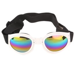 China Foldable Dog Sunglasses Eyewear Windbreak Sunscreen Goggles Eye Protection Glasses Universal Safety Elastic Pet Eyeglass Fast Shipping cheap pet sunglasses wholesale suppliers