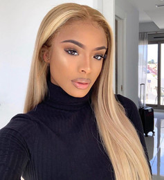 $enCountryForm.capitalKeyWord Australia - Straight 613 Blond Full End Lace Front Human Hair Wigs Remy Brazilian Wig With Baby Hair Pre Plucked 150% Glueless Lace Wig
