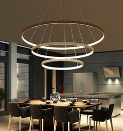 Discount led ring ceiling pendant lamp Modern Led Chandelier Circle Rings Pendant Lamp Aluminum Body hanging lamp Ceiling Fixtures for dining room kitchen