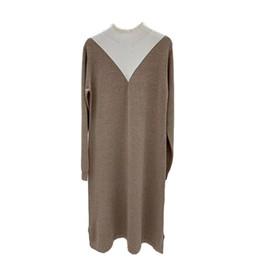 $enCountryForm.capitalKeyWord Australia - Womens Sweater Dress Fashionable Breathable Thin Long Sleeve Knit Skirt Sweater