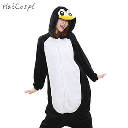 $enCountryForm.capitalKeyWord Australia - cosplay costume Kigurumi Penguin Onesie Women Pajama Adult Whole Animal Cosplay Costume Sleepsuit Flannel Mascot Party Winter Warm Sleepwear
