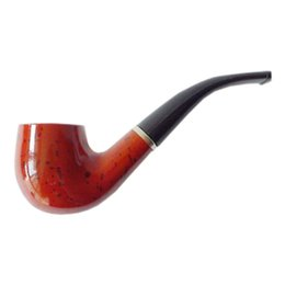 Wholesale New Vintage Durable Woody Break in Tobacco Pipe For Smoking with Leather Case good