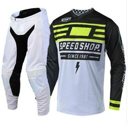 Breathable Motocross Gear Australia - 2019 DIRT BIKE Jersey And Pant Motocross Kits Top Quality Motorcycle Gear set