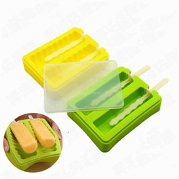 Ice Cream Designs NZ - DIY Homemade Ice Cream Mould 8 Designs Lovely Popsicle Mould Frozen Ice Cream Maker Silicone Kitchen Ice Mould 10 Pieces DHL