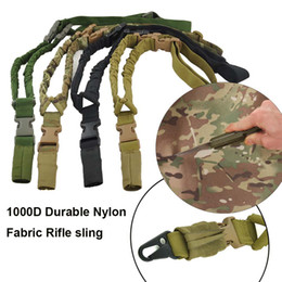 Wholesale 1000D Nylon Tactical rifle gun sling Waterproof and Durable single point shoulder strap sling For Outdoor Hunting CS Cosplay Games