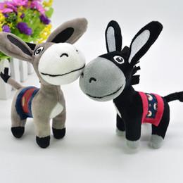 Cartoon sleep girl online shopping - Christmas Kawaii Little Donkey Plush Keychain Toys Cute Mini Pendant Soft Stuffed Animals Doll Girls Toys Bag Pendant Cartoon