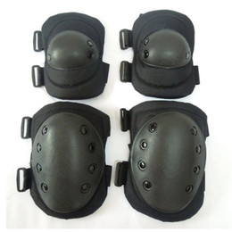 military combat gear 2019 - Tactical Combat Protective Knee Elbow Protector Pad Set Gear Sports Military Knee Elbow Protector Elbow & Knee Pads for