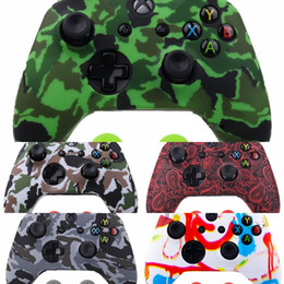 xbox thumb grips UK - PU6h9 2 1 x Soft Silicone Protective Skin for Cover + IVYUEEN x Thumb Sticks Caps Grips Case Microsoft Xbox One 1 Wireless Controller