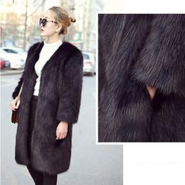 Long Hair Women Australia - Manteau Femme Hiver 2019 Winter Furry Thick Warm Women Faux Fur Long Coat Parka Streetwear Female Faux Fox Hair Cardigan Coats