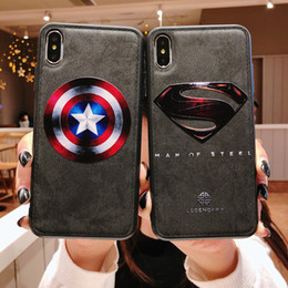 Iphone Europe NZ - New Mobile phone case Europe and America silicone superman mobile phone soft side cover soft shell mobile phone case For iphone Xs Max