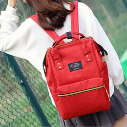 canvas flap bag japan Australia - 2019 new canvas solid color backpack female Korean version of the tide student bag casual Mummy bag portable backpack3