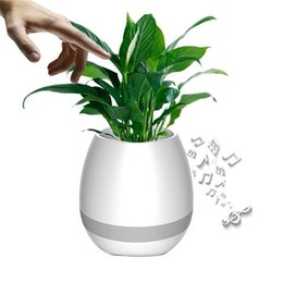 $enCountryForm.capitalKeyWord Australia - Music Flowerpot Bluetooth Speakers Night Light Breathing LED Smart Plant Pots Play Piano Touching Plants Office Wireless Speaker