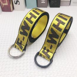 Belts For Men Cheap Australia - Wholesale Fashion off Double ring buckle Canvas Luxury Designer cheap Belts For Men Woman Casual Loose Waist Strap Jeans belt