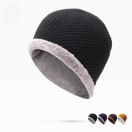 Wholesale Winter Hat Direct Selling Man And Woman New Fashion Warm Wool Knitted Hat Korean Style Winter Skullies beanies Cap For