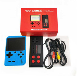 New Built-in 400 Games 1000mAh Battery Retro Video Handheld Game Console+Gamepad 2 Players Doubles 3.0 Inch LCD Game Player on Sale