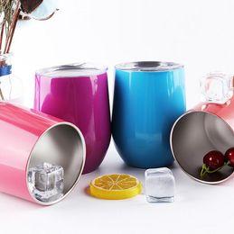 Großhandel Eierbecher Edelstahl Saugnäpfe Auto Trinkflasche Candy Farbe Kaffeetassen Mini Wasserflasche Kindermilch Tasse tragbare Teetasse CLS83