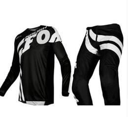 Breathable Motocross Gear Australia - Free Shipping 2019 NAUGHTY FOX MX 180 Cota Blue Jersey & Pant Combo Motocross Racing Racewear Dirt Bike Off Road Riding Gear Set