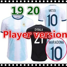 Wholesale Player version Gold cup Argentina home soccer jersey MESSI AGUERO DYBALA HIGUAIN ICARDI DI MARIA football shirt camiseta