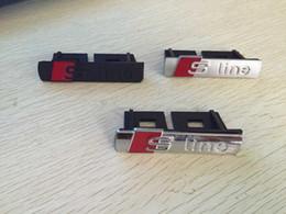 Опт Стайлинг автомобиля S Line Sline Значок эмблемы передней решетки Хромированный пластик ABS - Передняя решетка для Audi A1 A3 A4 A4L A5 A6L S3 S6 Q5 Q7