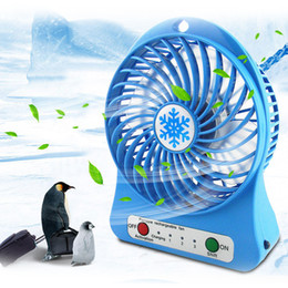 $enCountryForm.capitalKeyWord Australia - 1PC Adjustable 3 Speed USB Rechargeable Fans Summer Air Cooler Portable Personal Mini Fan With LED Light Office Desk Cooler Fan