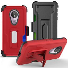 $enCountryForm.capitalKeyWord Australia - For Coolpad Legacy Motorola G7 Power E6 Play E5 Plus 360 Degree Suction Kickstand Belt Clip Card Holder Credit Card Holder Case