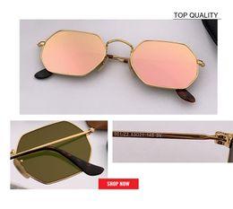 Hexagon sunglasses online shopping - Hexagon flat lens Sunglasses Women Brand Designer Small Square Sun glases Men Metal Frame Driving Fishing rd3556 gafas Sun Glasses Female