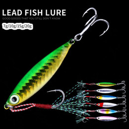 metal lure 5cm Canada - HENGJIA 2019 hot sale 6pcs lot fishing lure 4.5cm 5cm 5.8cm 6.3cm jigged Lead fishing Metal Paillette Wobbler Artificial Pesca Hard Tackle