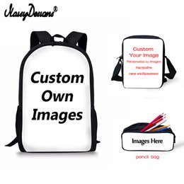 $enCountryForm.capitalKeyWord Australia - nice girls Designs Boys Backpack Portfolio School Bag Set for Children Unique Kids Bagpack Rucksack Mochila With Pencil Bags