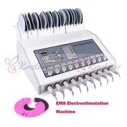 Chinese  EMS Muscle Stimulator Electrostimulation Machine Russian Waves EMS Electric Muscle Stimulator Tens EMS Slimming Machine For Salon Spa Use manufacturers