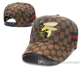 2019 novos Outono Inverno designer chapéus homens mulheres abelha tigre moda bordado boné de beisebol chapéu G letra chapéu hip-hop cap sunhat marrom escuro venda por atacado