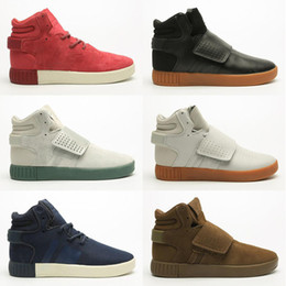 tubular invader strap shoes 2020 - High Quality Tubular Invader Strap Kanye West 750 Mens Sports Running Athletic Sneakers Shoes Size 40-46