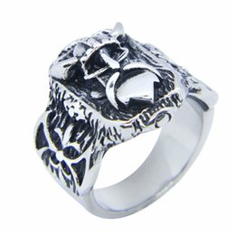 Men Size 15 Rings Australia - 1pc size 7-15 New Silver Golden Vikings Ring 316L Stainless Steel Jewelry Personal Design Cool Men Boys Vikings Ring